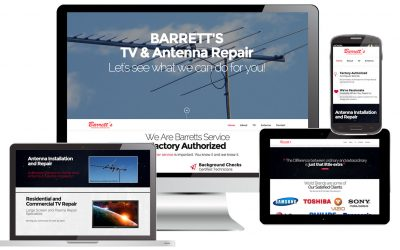 Barretts TV One Page Parralax Web Site Design by Anthony Colonna