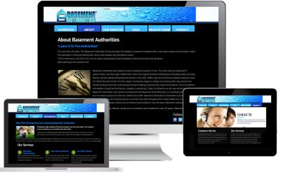 Basement Authorities Web Design Web Site Design by Anthony Colonna