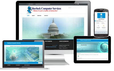 Sherlock Computer Services Web Site Design by Anthony Colonna