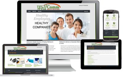 WellComm Health Solutions Web Site Design by Anthony Colonna