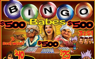 Bingo Babes game art by Anthony Colonna