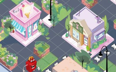 Littlest Pet Shop Ice Cream Shop Game Art by Anthony Colonna