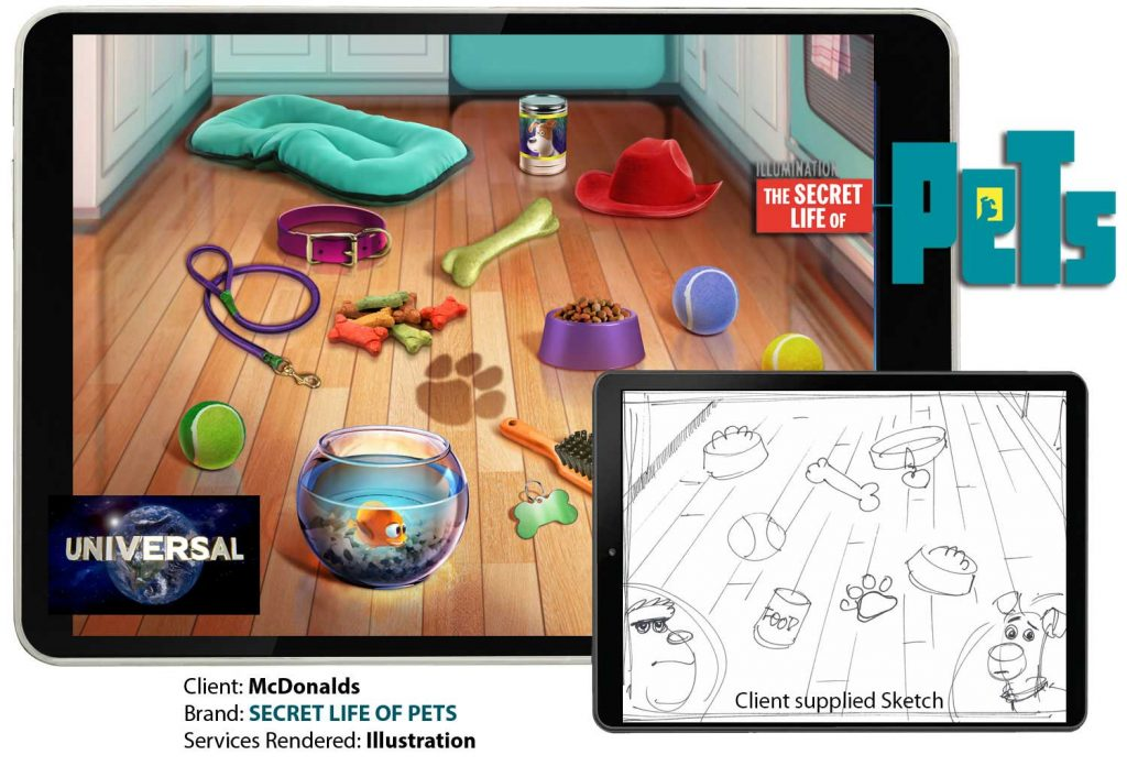 Secret Life of Pets Game Art by Anthony Colonna