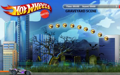Mattels Hot Wheels Graveyard Scene McPlay gaming app art by Anthony Colonna