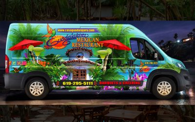 Guadalajara Mexican Restaurant Vehicle Wrap by Anthony Colonna
